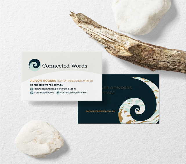 Connected Words business cards