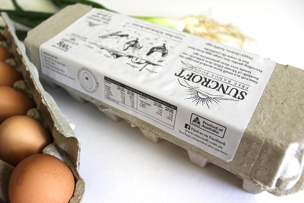 Suncroft Free Range Eggs carton