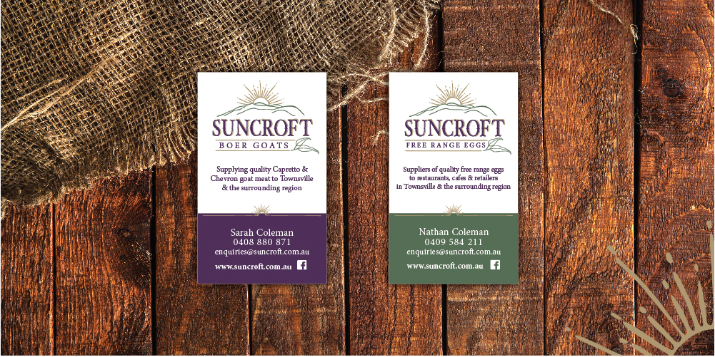 Suncroft Free range eggs business cards