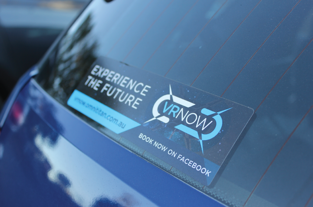 VRNow bumper sticker